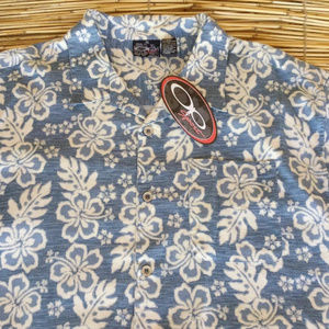 OP Sport Hawaiian Shirt Aloha Friday XXL 2X Floral